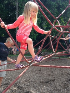 She climbed to the top and then told a teenage boy to 'Move!' because he was 'in the way!'